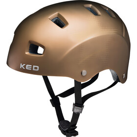 KED Risco Kask rowerowy, gold matt star
